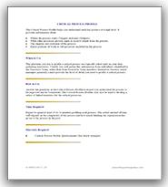 Critical Process Profile